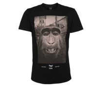 T-Shirt 'Monkey Takeover' schwarz