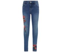 Super-Stretch-Jeans Skinny-Fit blue denim