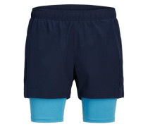 Sportliche Shorts blau