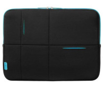 Airglow Sleeves Laptop-Hülle 40 cm neonblau / schwarz