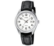 Armbanduhr schwarz / silber / weiß