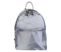 Rucksack mit glänzender Oberfläche silbergrau