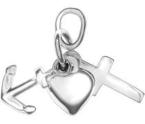 Kettenanhänger »Glaube/Liebe/Hoffnung« silber