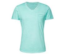 T-Shirt mit V-Ausschnitt türkis
