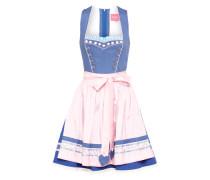 Dirndl mit Schürze hellblau / mischfarben / rosa