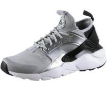 'Air Huarache Run Ultra' Sneaker Mädchen hellgrau / schwarz / silber / weiß