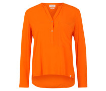 High-Low-Bluse orange