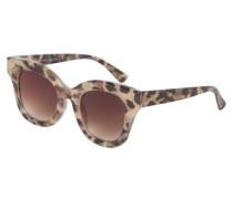 Modische Sonnenbrille beige / braun