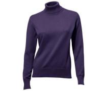 Rollkragen-Pullover lila