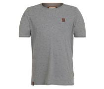 T-Shirt 'Fear Will Find You II' grau / schwarz