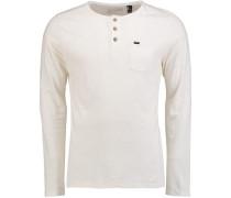Shirt mit Henleyausschnitt weiß