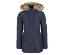 Winterjacke mit Fake Fur dunkelblau