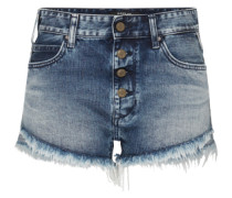 Denim-Shorts blau