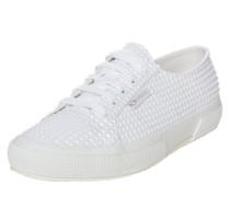 Sneaker in Noppen-Optik weiß