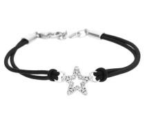 Damen Armband 'Brilliance Star' schwarz / silber
