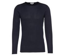 Pullover 'fine melange basic pullover' nachtblau