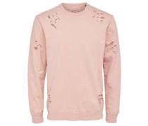 Detailliertes Sweatshirt puder