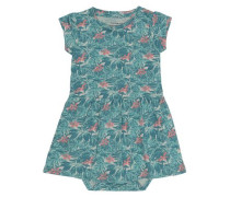 Kleid mit kurzen Ärmeln nitgy blau
