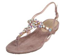 Sandalen mit Glitzersteinen braun