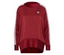 Sweatshirt mit Plisseeeinsätzen burgunder / weiß