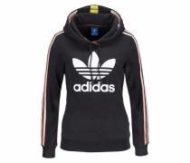 Kapuzensweatshirt 'slim Hoodie' rosa / schwarz