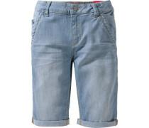 Regular Jeans-Bermuda blue denim