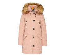Winter-Parka mit Besatz in Felloptik pink