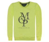 Sweatshirt langärmlig Jersey limette