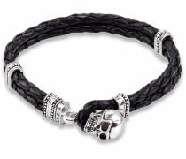 Armband »Totenkopf Lb37-008-11-« schwarz / silber