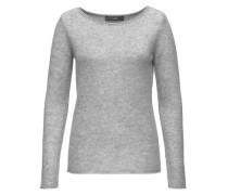 Basic Kaschmir Pullover grau