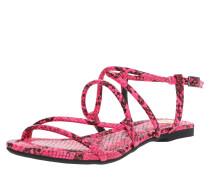 Sandale schwarz / neonpink