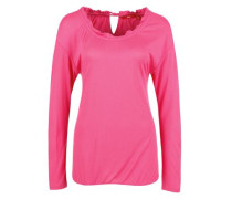 O-Shape-Shirt mit Rüschen pink