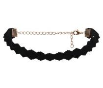 Choker-Halskette gold / schwarz
