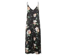Kleid mit Knopfleiste 'Hibiscus' mischfarben / schwarz