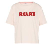 T-Shirt 'cozy' rosa