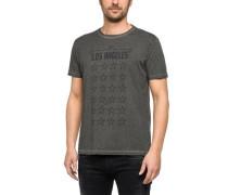 T-Shirt mit Sternenprint grau