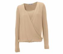 Bodyform-Blusenshirt beige