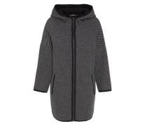 Oversize Jacke mit Kapuze grau / schwarz