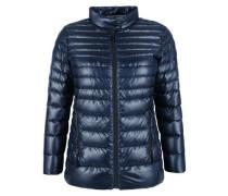 Glänzende Light-Down-Jacke blau