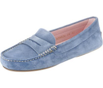 Loafers blue denim