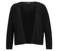 Kurzer Feinstrick-Cardigan schwarz