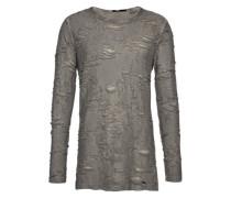 Langarmshirt im Destroyed-Look 'Johny' grau
