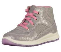 'Sneaker' hellgrau / rosa / silber
