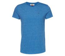 T-Shirt in Melange-Design himmelblau