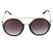 Sonnenbrille 'Top Bar' gold / schwarz