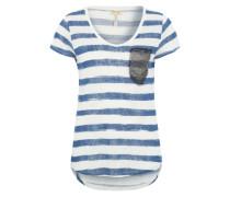 T-Shirt 'Josy' blau / weiß