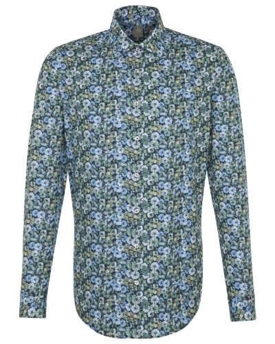 Business Hemd 'Custom Fit ' blau