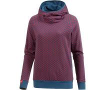 Sweatshirt Damen pastellblau / rot