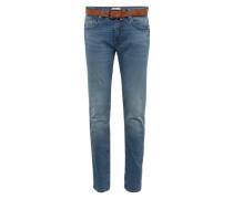 Jeans mit Gürtel blue denim
