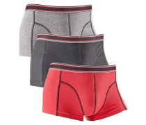 Hipster (3 Stück) grau / rot / schwarz